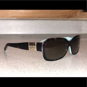 Ralph Lauren Tortoise/Teal Polarized Sunglasses